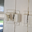 I love all the period details. These latches still work, even with several coats of old paint layered on them.